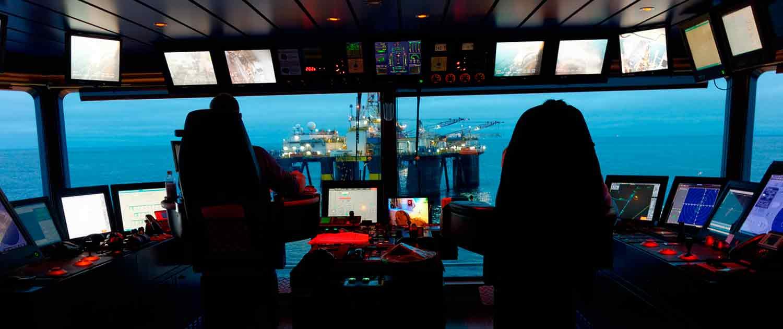 Foto av sikkerhetsglass i offshorevirksomhet