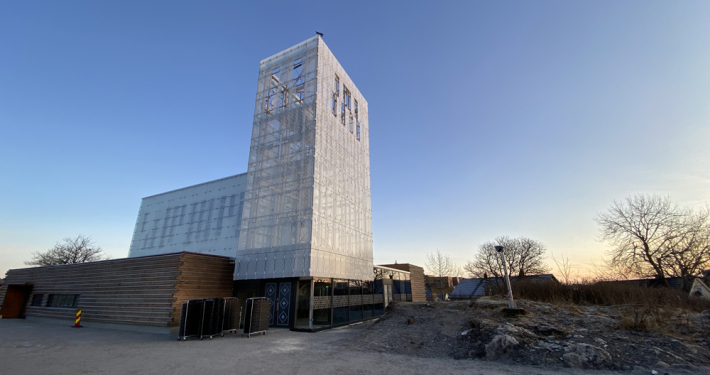 Foto av nye Rørvik kirke